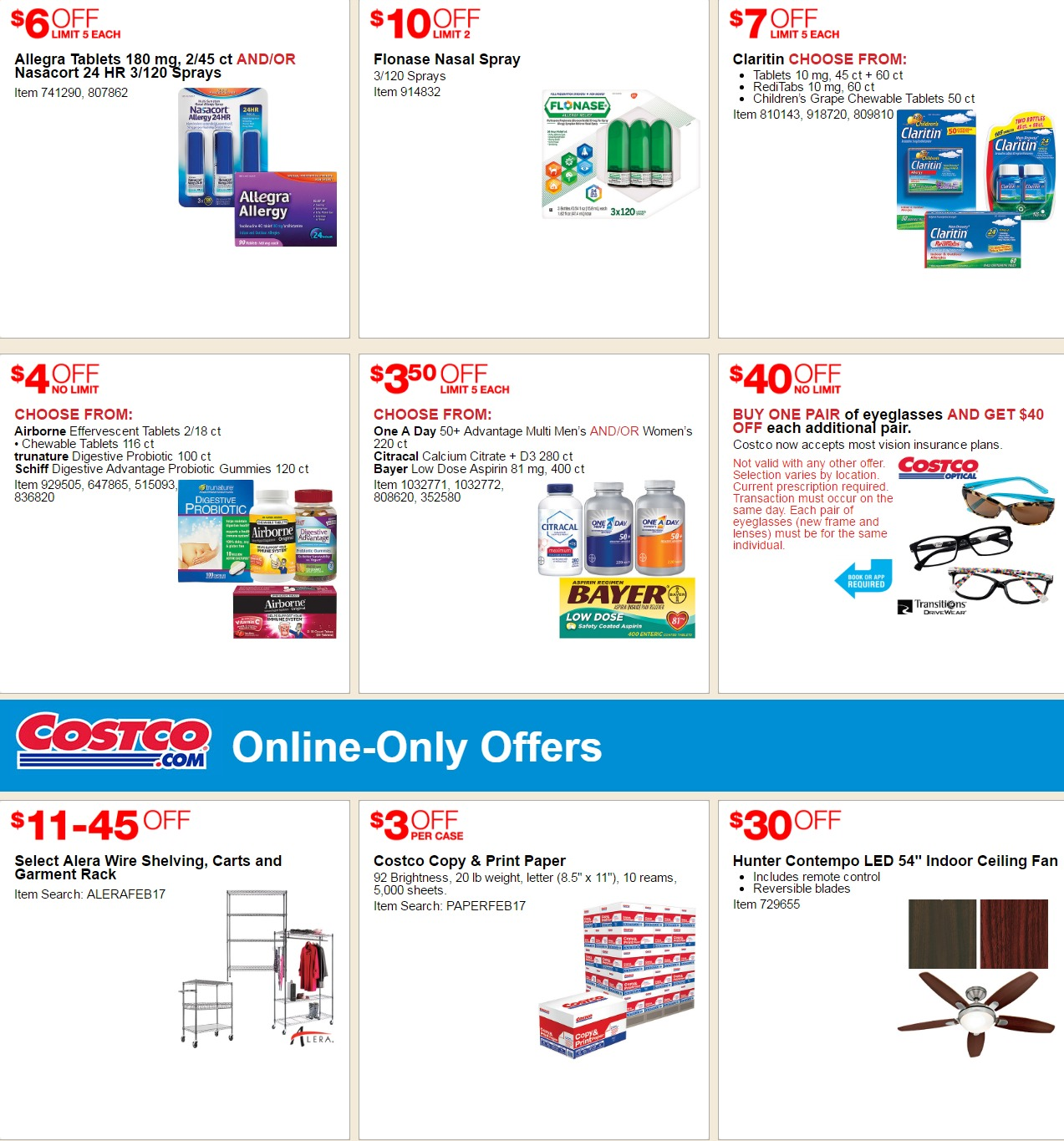 Costco Coupon Offers February 16 March 12 2017