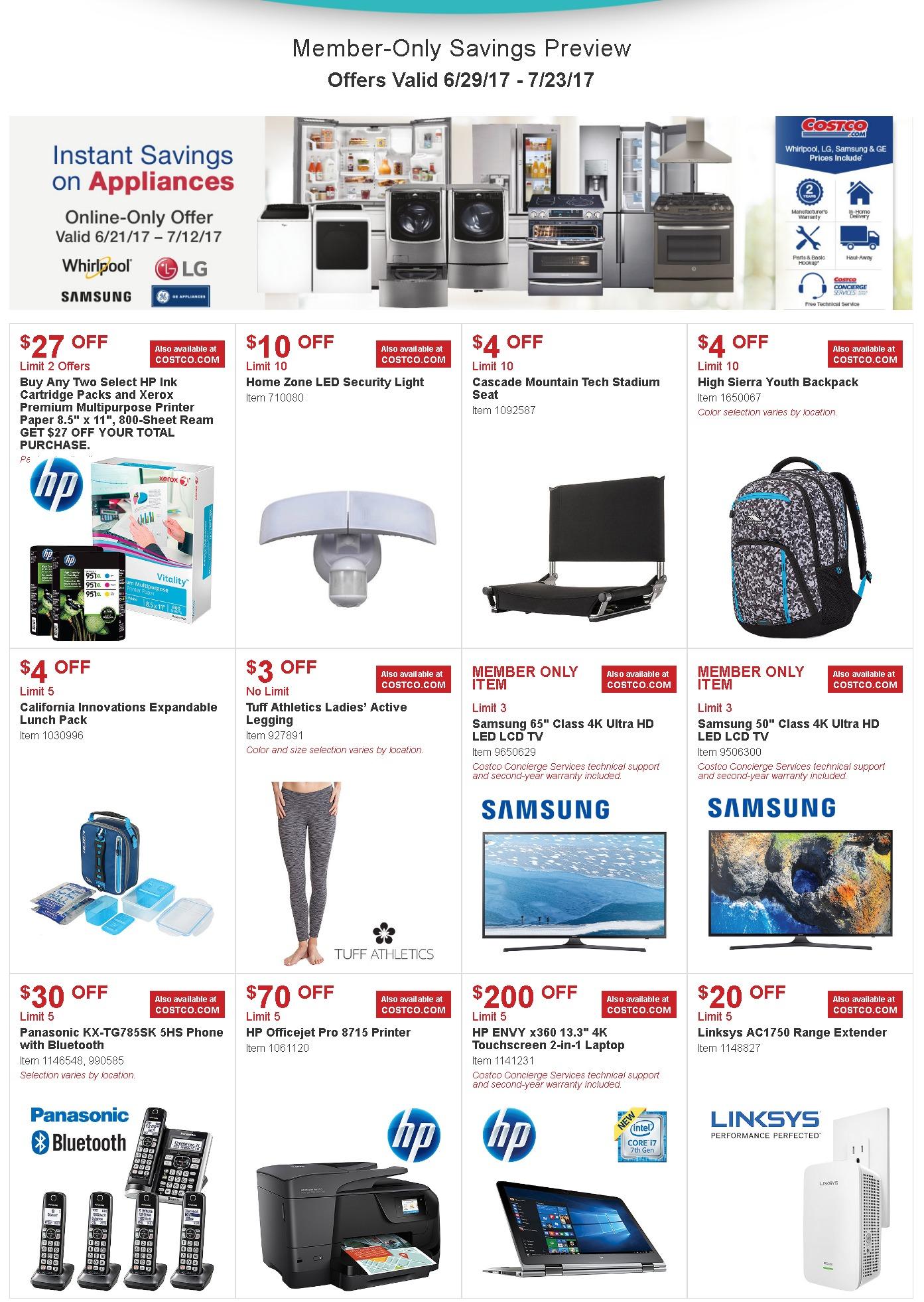 Costco Ad Sale June 29 July 23 2017