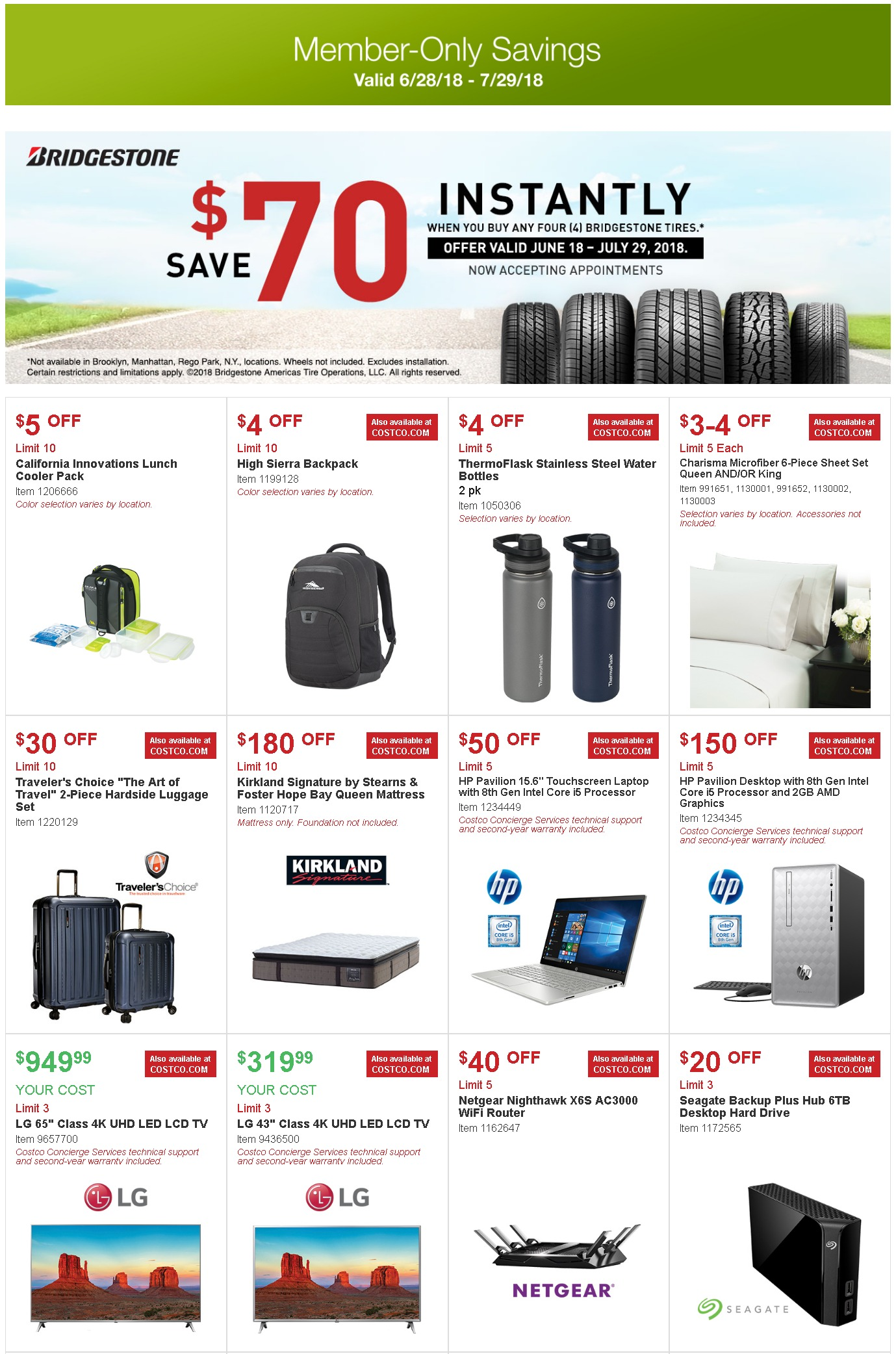 costco coupon offers june 28 july 29 2018