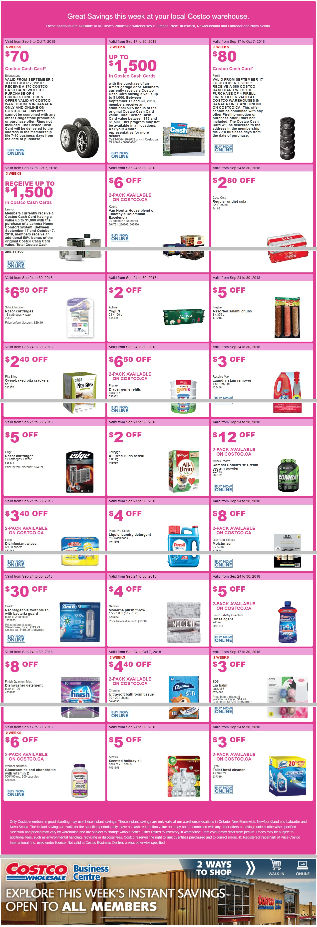 Costco Canada Flyer September 24 - September 30, 2018