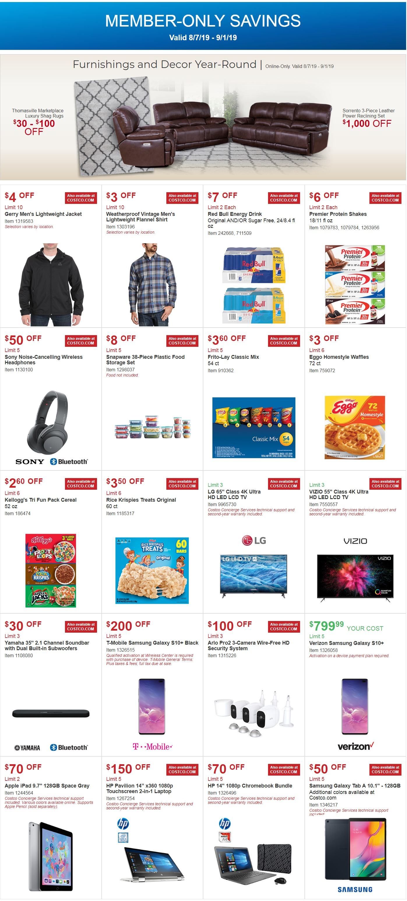 Costco Coupon Offers August 7 - September 1, 2019