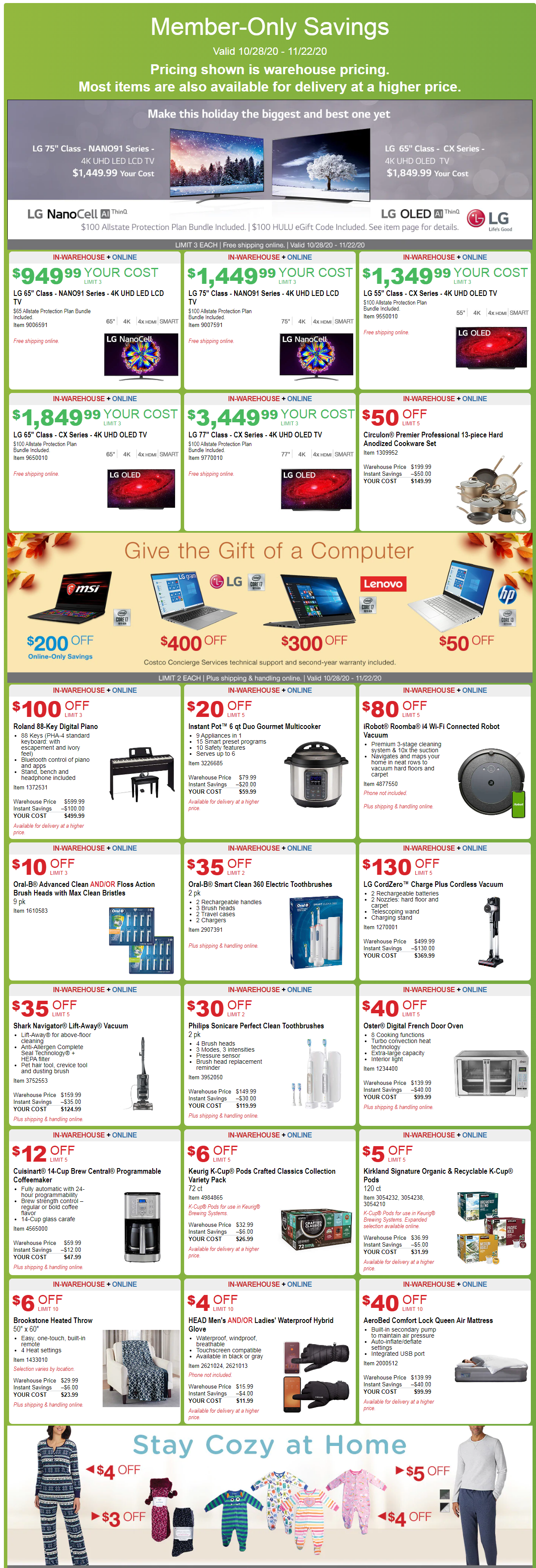 Costco Coupon Offers October 28 - November 22, 2020