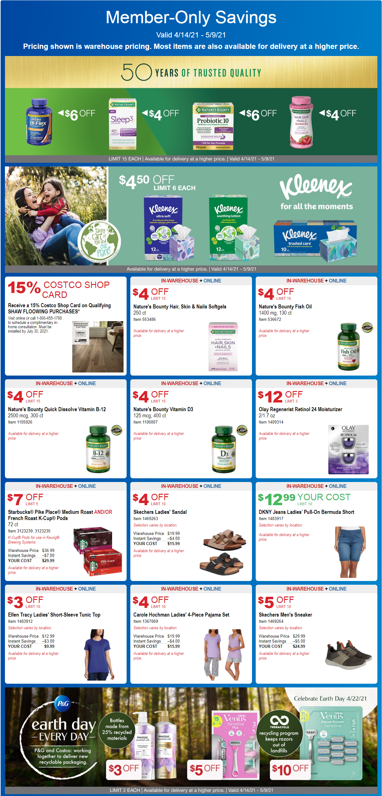 Costco Coupon Offers April 14 - May 9, 2021